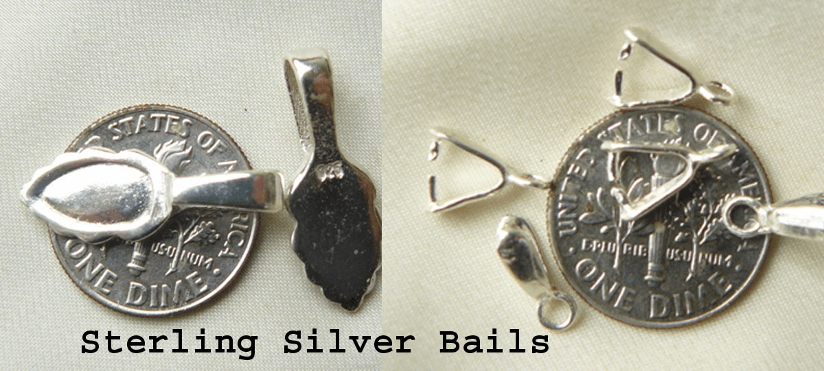 Bails Sterling Silver Pinch bails and Glue on Bails