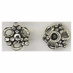 Bali Style Bead Cap - 8mm - 2 Pieces - Sterling Silver<br>RBC-266
