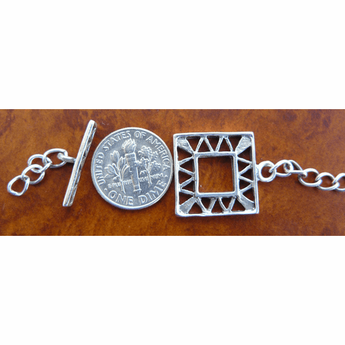 Bali Toggles - 1 Clasp - Sterling Silver<br>T-10