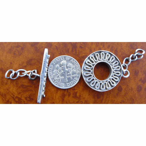 Bali Toggles - 1 Clasp - Sterling Silver<br>T-8