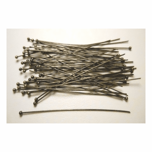 Ball Tip Head Pin - 2 in. - 50 Pieces - Brass<br>BPH2001-BOX