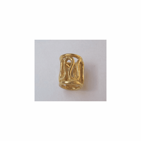 10x8mm 15 Beads 24kt.Gold Over Copper GCBK609