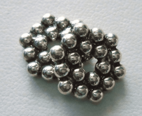 Bead - 12x2mm - 2 Beads - Sterling Silver<br>MB34