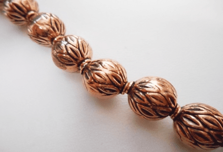 Bead - 13mm - 15 Beads - Copper<br>CO89