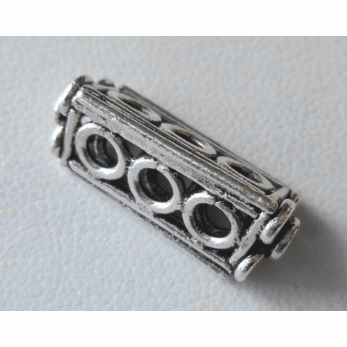 Bead - 20x8mm - 1 Bead - Sterling Silver<br>ORSB2002
