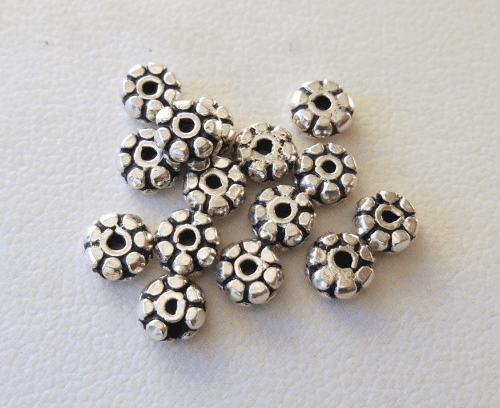 Bead - 2x5mm - 15 Beads - Sterling Silver<br>B69