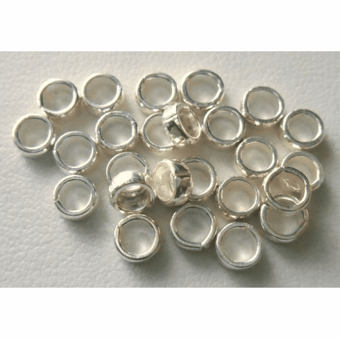 Bead - 2x5mm - 26 Beads - Sterling Silver<br>B12