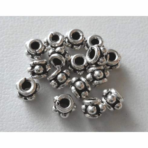Bead - 3x5mm - 16 Beads - Sterling Silver<br>B99