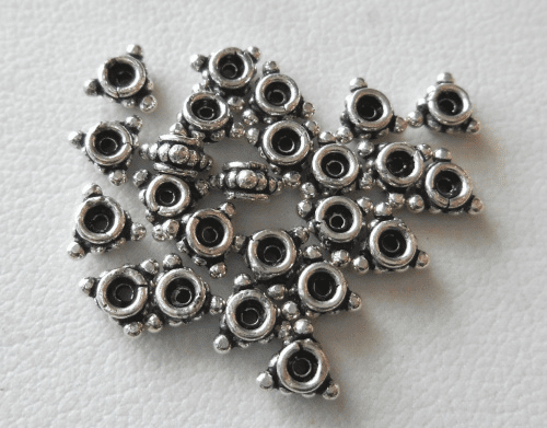 Bead - 4mm - 24 Beads - Sterling Silver<br>B79-4