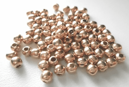 Bead - 4mm - 85 Pieces - Rose Gold Over Copper<br>SIB28