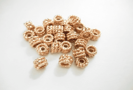 Bead - 4x6mm - 28 Pieces - Rose Gold Over Copper<br>SIB72