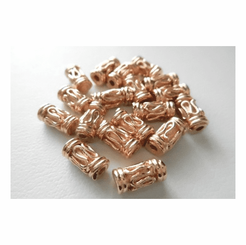 Bead - 4x9mm - 18 Pieces - Rose Gold Over Copper<br>SIB256