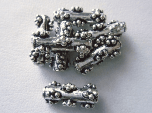 Bead - 5x15mm - 7 Beads - Sterling Silver<br>MB23