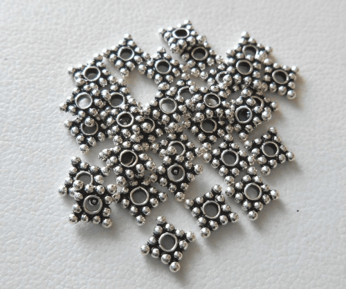 Bead - 5x1mm - 32 Beads - Sterling Silver<br>B104-5
