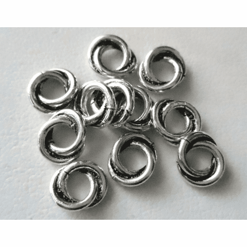 Bead - 6mm - 11 Beads - Sterling Silver<br>B45