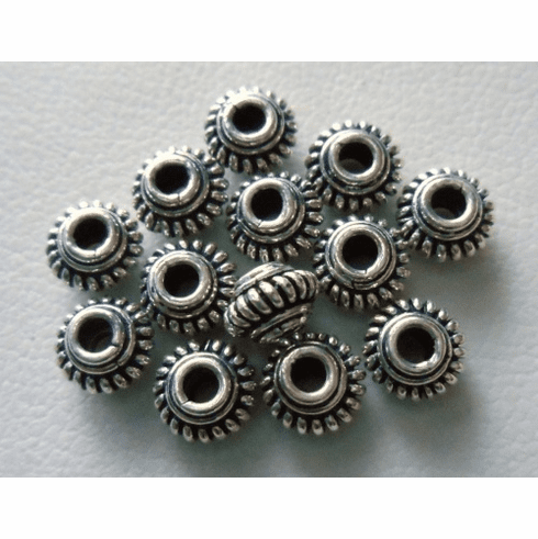 Bead - 6mm - 13 Beads - Sterling Silver<br>B3-6
