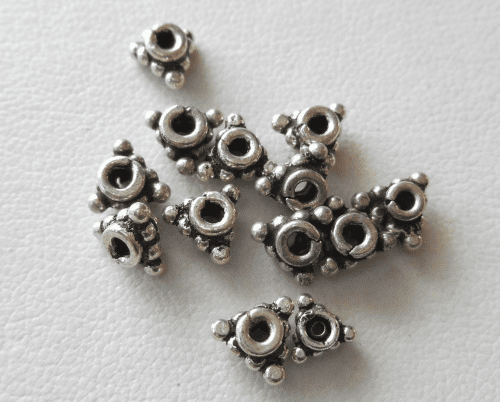 Bead - 6mm - 13 Beads - Sterling Silver<br>B79-6