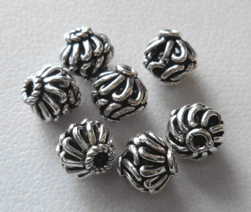 Bead - 6mm - 7 Beads - Sterling Silver<br>B120