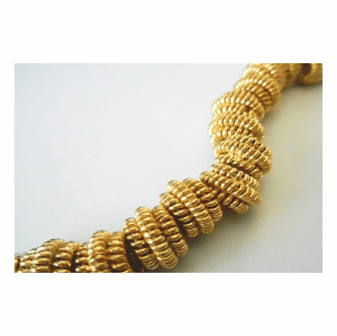 6x10mm Bead 8 Beads 24kt. Gold Over Copper GCBK16