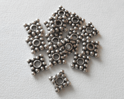 Bead - 6x1mm - 16 Beads - Sterling Silver<br>B104-6