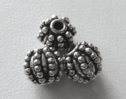 Bead - 7mm - 3 Beads - Sterling Silver<br>B117-7