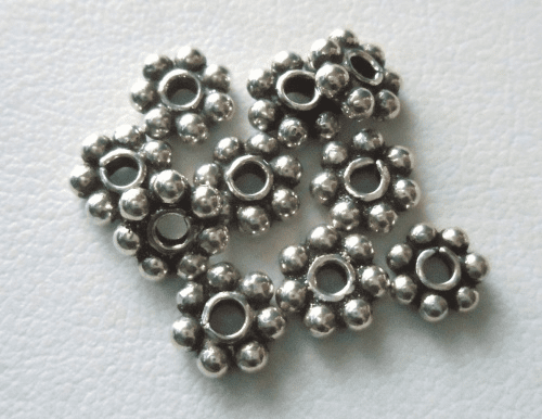 Bead - 7mm - 9 Beads - Sterling Silver<br>B9-7
