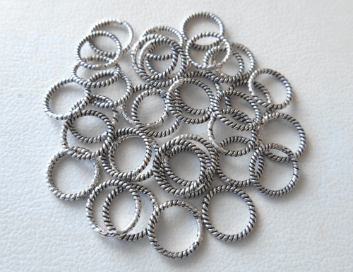 Bead - 7x1mm - 36 Beads - Sterling Silver<br>B101