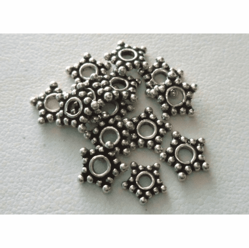 Bead - 8mm - 14 Beads - Sterling Silver<br>B37-8