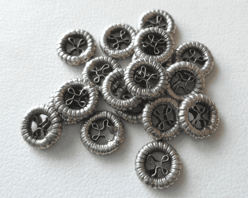 Bead - 8mm - 18 Beads - Sterling Silver<br>MB44