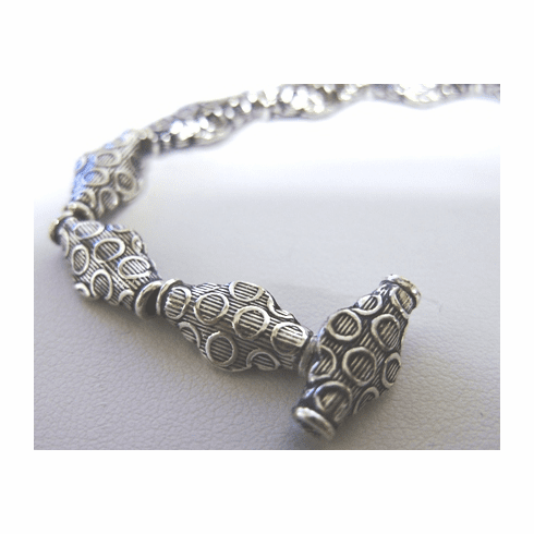 Bead - 8x15mm - 14 Beads - .999 Silver Over Copper<br>SCBK35