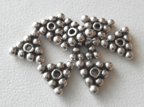 Bead - 8x2mm - 8 Beads - Sterling Silver<br>B78