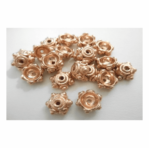 Bead Cap - 10mm - 20 Pieces - Rose Gold Over Copper<br>SBIC05