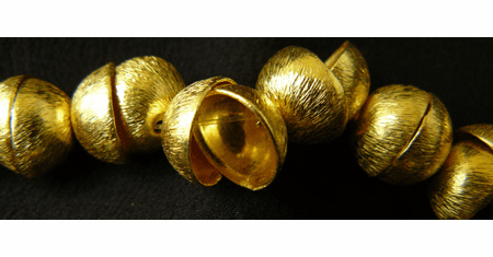 22 Bead Caps 10mm 24kt. Gold Over Copper GCBK516