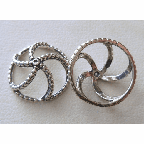 Bead Cap - 15x7mm - 2 Caps - Sterling Silver<br>BZ1915