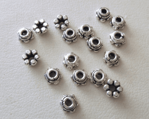 Bead Cap - 5x3mm - 16 Caps - Sterling Silver<br>BC3-5