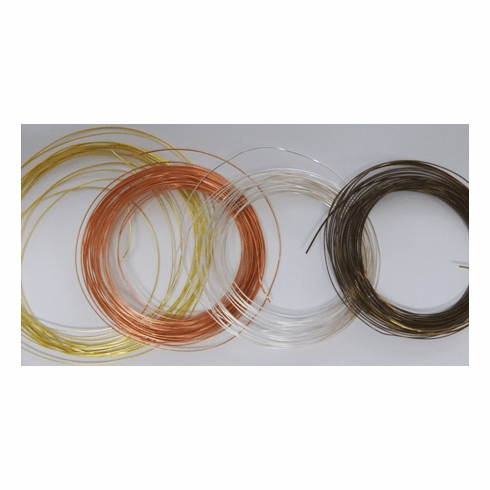 Bead Smith Half Round Plated Wire