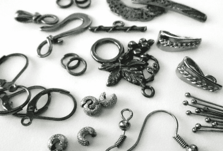 Beads and Findings - Gun Metal -