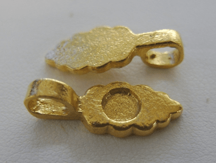 Beaver Tail Glue-on Bails - 8x18mm: 12 Pieces - 8x25mm: 9 Pieces - 24Kt Gold Over Copper