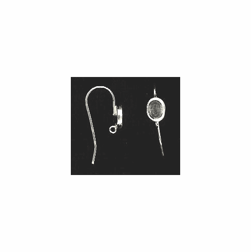 Bezel Cup Wire - 7x5mm Cab Setting - 1 Pair - Sterling Silver<br>ST75R