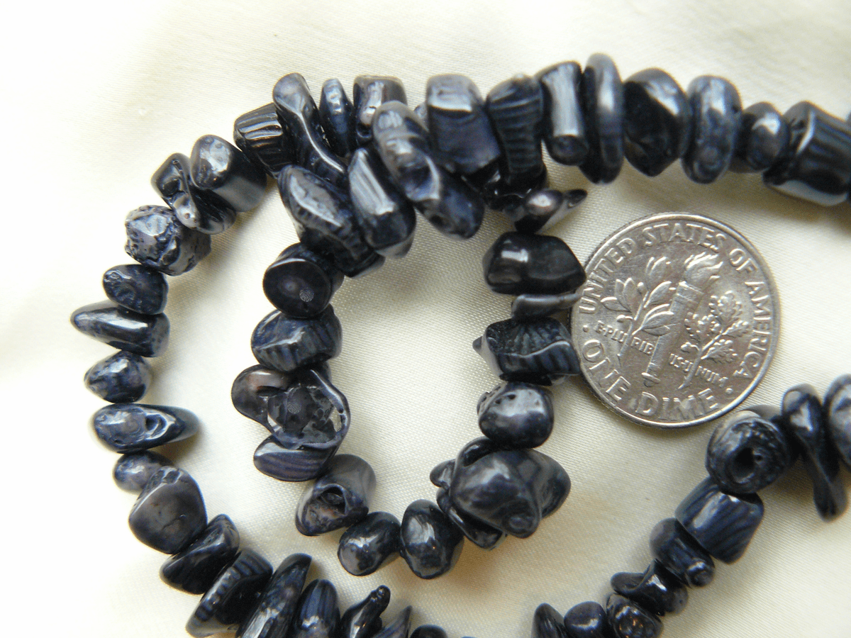 """Black Coral Chip Beads 16"""" Strands"""