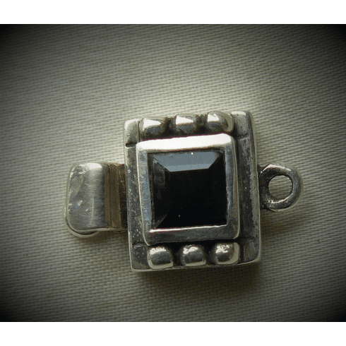 Black Onyx Clasp set in Sterling Silver