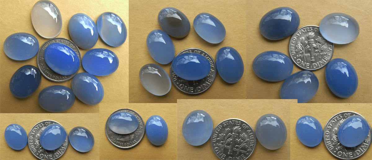 Blue Chalcedony Oval Cabochons choose from 10x12, 10x14, 10x16,14x18, 15x20