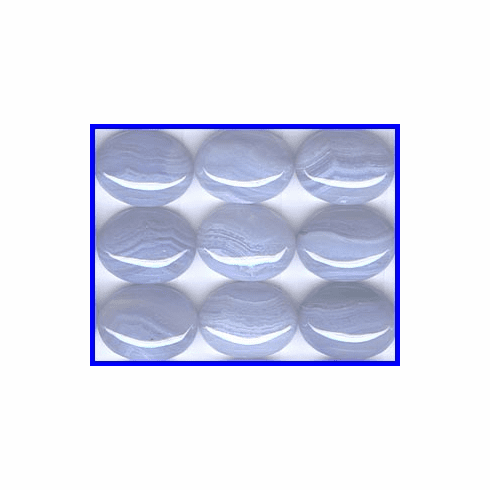 Blue Lace Agate 15x20mm Oval Cabochon