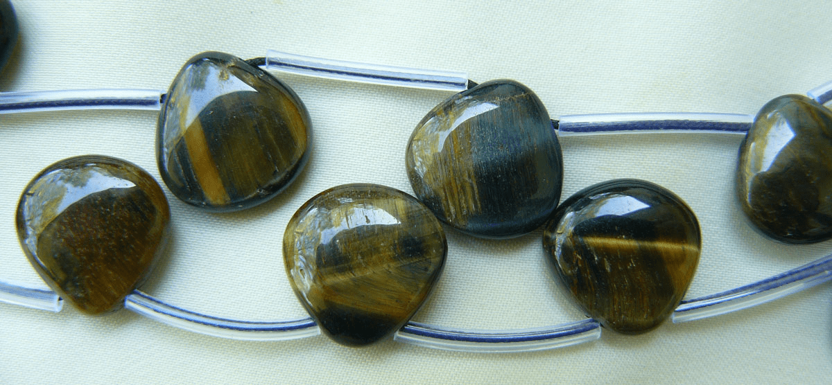 "Blue Tiger Eye Top Drilled Beads 16"" strands 12mm beads"