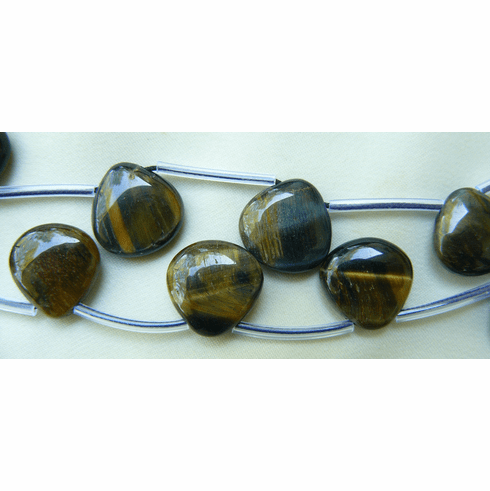 """Blue Tiger Eye Top Drilled Beads 16"""" strands 12mm beads"""