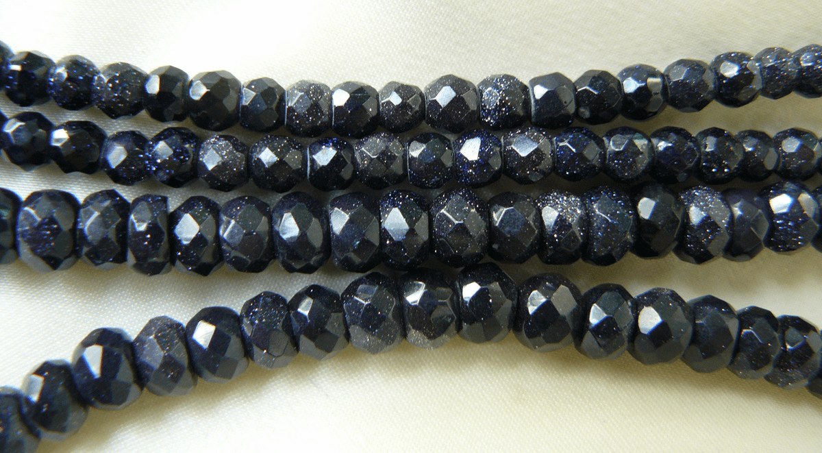 """Blue tone Faceted Rondelle beads 5x6mm 16"""" Strands"""