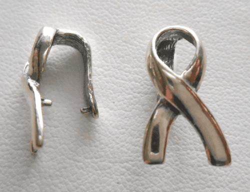 Bow Bail - 10x17mm - 1 Bail - Sterling Silver<br>SS-B4048116