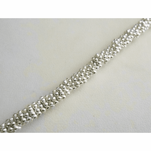 Bright Daisy Spacer - 5mm - Over 100 Beads - .999 Silver Over Copper <br>SCBK24-5B