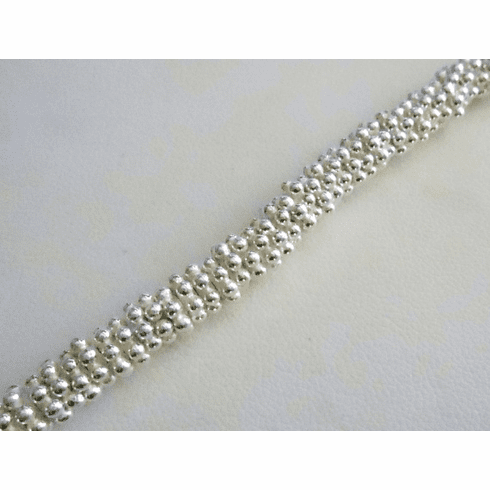 Bright Daisy Spacer - 6mm - Over 100 Beads - .999 Silver Over Copper <br>SCBK24-6B