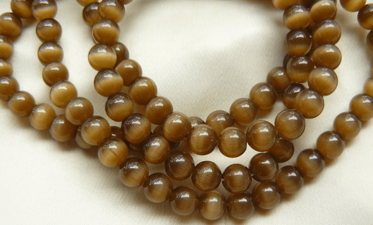 """Brown Cats eye beads 16"""" Strand choice of 4 or 6mm"""